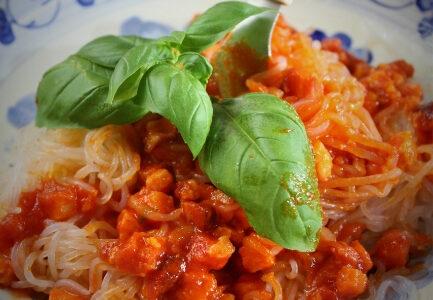 Keto spaghetti z boczkiem